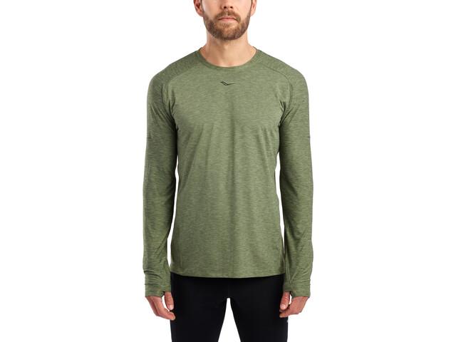 saucony Breakthru Long Sleeve Shirt Men, four leaf clover